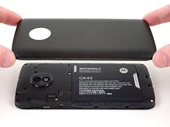 Remplacement de la coque arrière du Motorola Moto E5 Play
