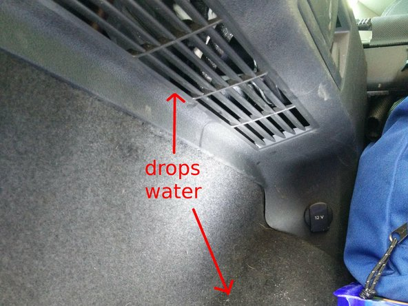 Locate the sunroof drains, verify if there's no dirt inside at the entrance point. (aka: you can see the clean hole like the picture)