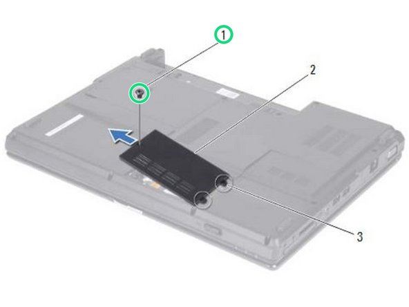 Replace the screw that secures the memory module cover to the computer base.