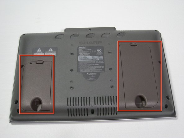 Remove the two back panels to display the audio and video inputs..