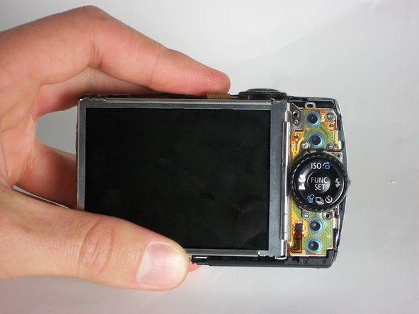 Disassembling Canon Powershot SD880 LCD Display