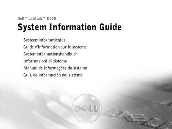 Dell-latitude-d600 handleiding EN-NL