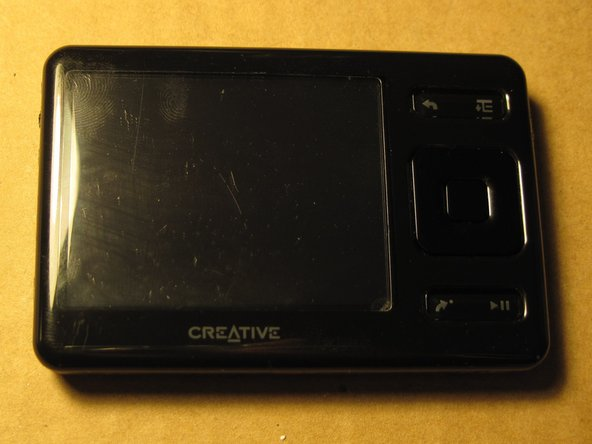 Disassembling Creative ZEN Screen and Battery