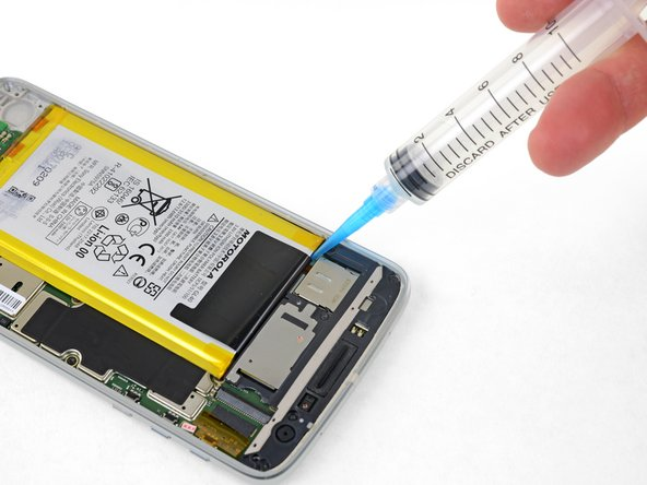 The battery is strongly glued into place.