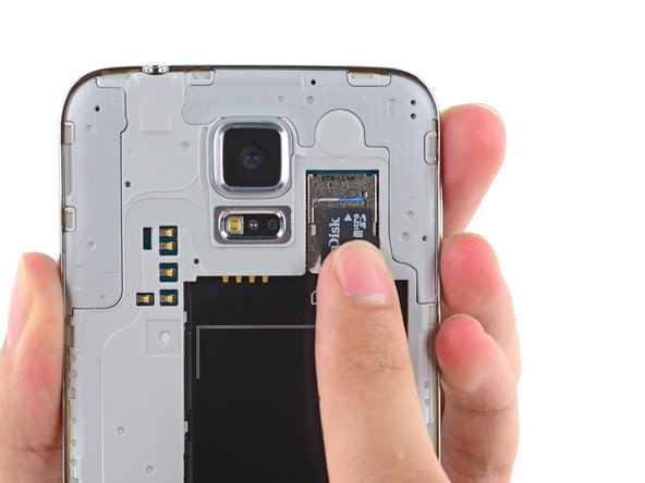 Remove the microSD card from the phone.