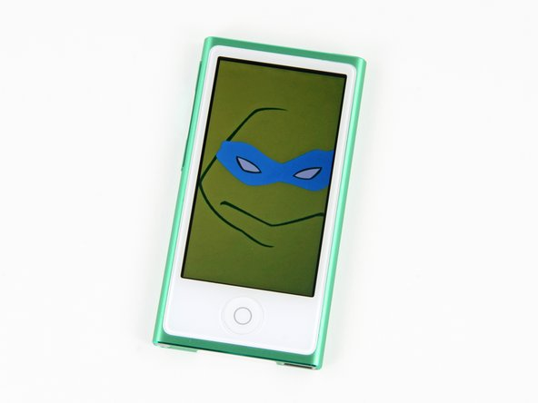 Image 3/3: Cowabunga, dude! What do you do with twice the screen size of the old Nano? You load minimalist illustrations of Ninja Turtles, duh.