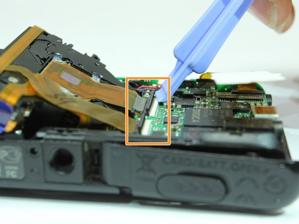 Image 2/3: Gently remove the lens for replacement.