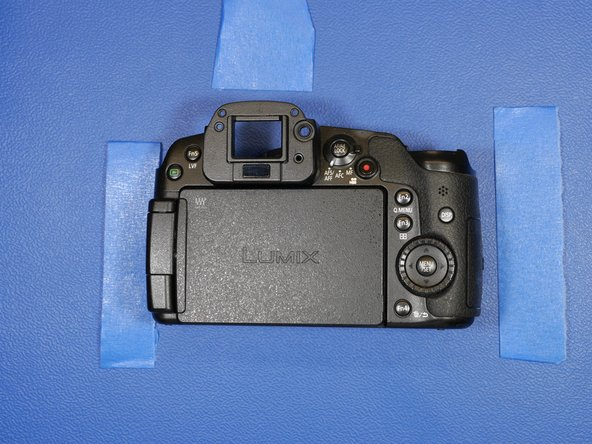 This is the rear shell assembly of the GH3. This contains the LCD sub-assembly buttons and switches.