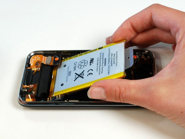 Apple promises improved battery life with the 3GS. The battery is listed as 3.7V and 4.51 Whr. This comes out to 1219 mAh, compared to 1150 mAh on the 3G. That's only a 6% increase.