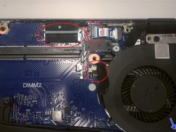 The fan is also held by a screw in the bottom right. This was partially cut off in the image.