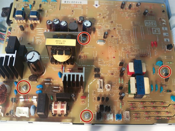 Remove 4 screws on the control board to remove it from its metal plate.