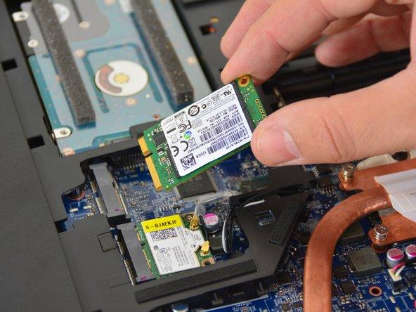 Remove the SSD hard drive.
