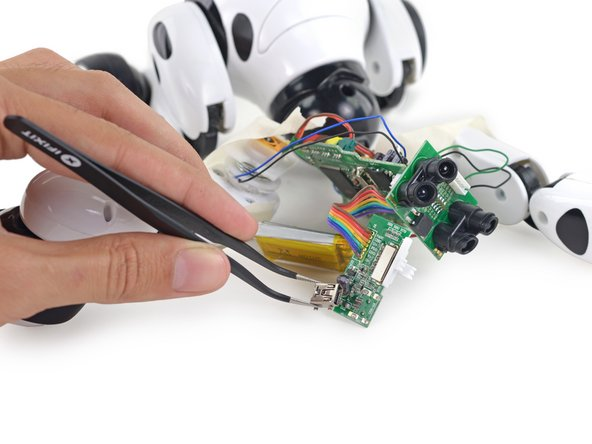Fixing the USB port on Zoomer the robot dog