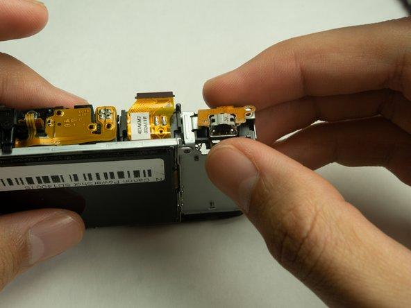 Remove the USB port.