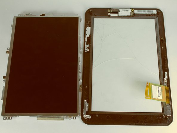 Lift up the LCD from the screen and place it on the side