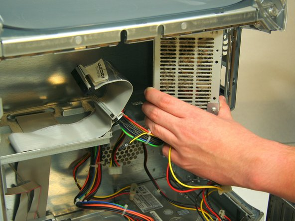 Remove power cable from hard drive.
