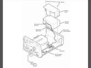 Newport e500 Internal Battery  Disassembly