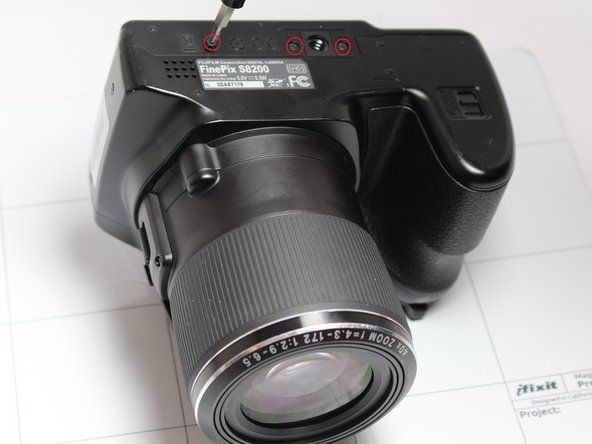 Fujifilm FinePix S8200 Rear Housing Cover  Replacement