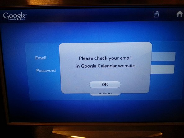 Google Calendar not integrating with Samsung smart fridge