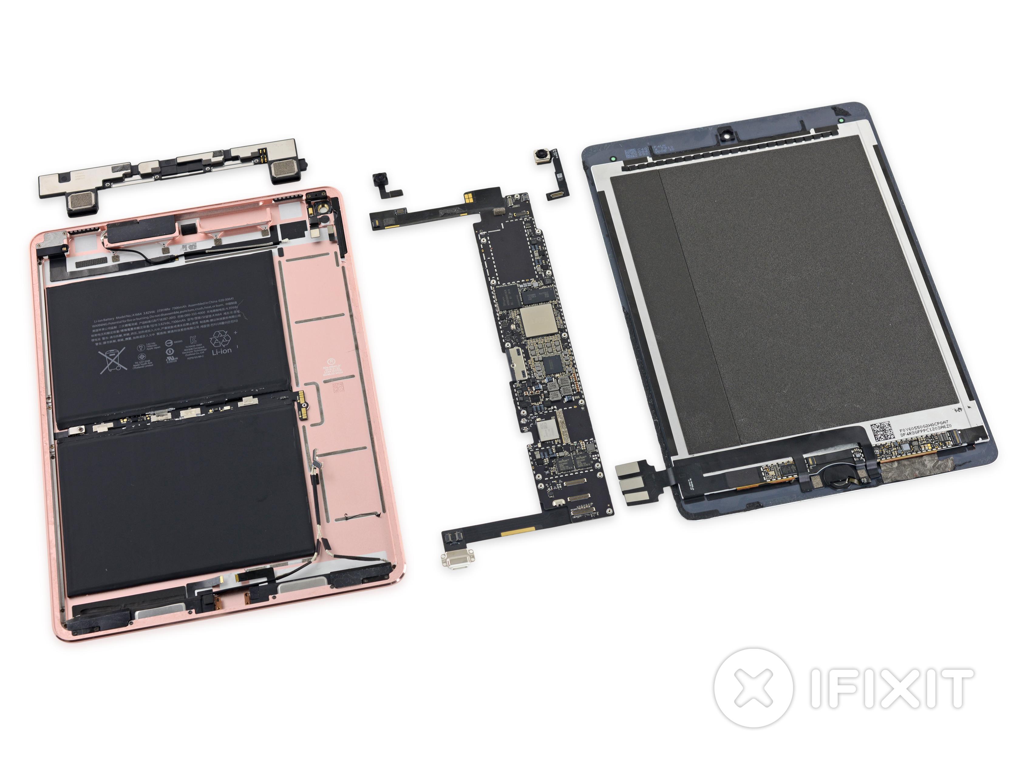 Специалисты iFixit разочарованы конструкцией iPad Pro 9.7.