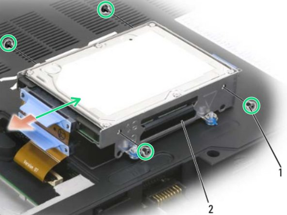 Remove the new hard drive from its packaging. Save the original packaging for storing or shipping the hard drive.