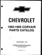 1960 - 1969 Corvair Parts Manual