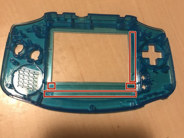 Gameboy Advance AGS-101 Blacklight Mod