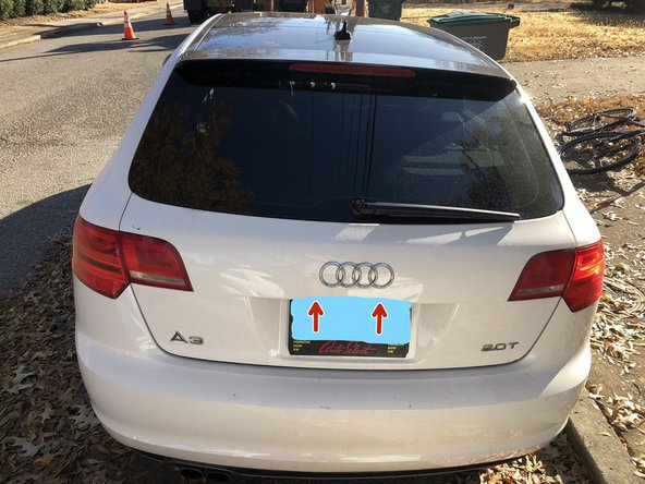 2008-2010 Audi A3 Sportback License Plate Lights Replacement