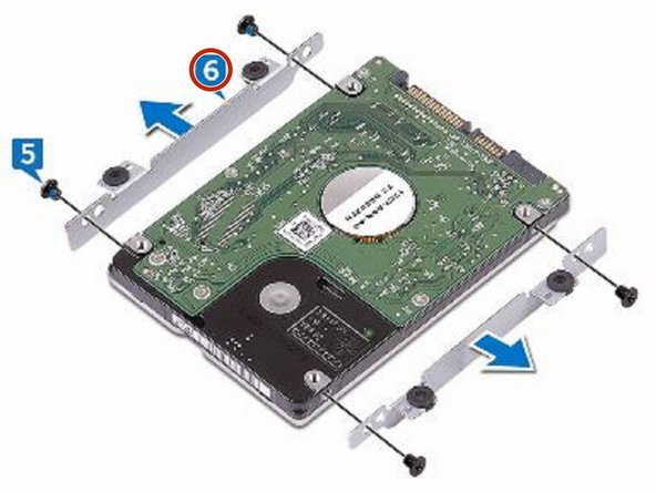 Remove the hard-drive bracket off the hard drive.