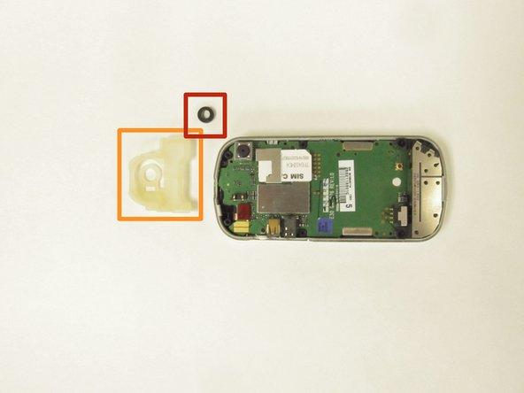 Remove the white rubber spacer.