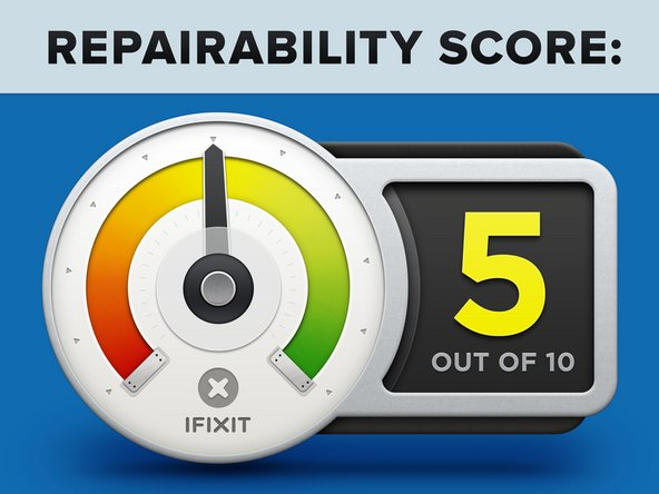 The Huawei Mate30 Pro earns a 5 out of 10 on our repairability scale (10 is the easiest to repair):