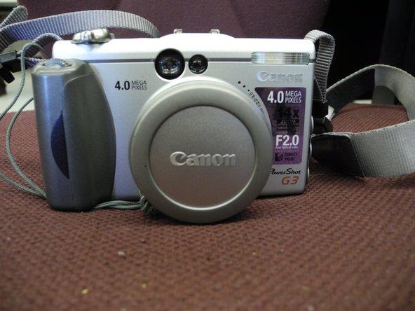 Canon PowerShot G3 Screen Replacement