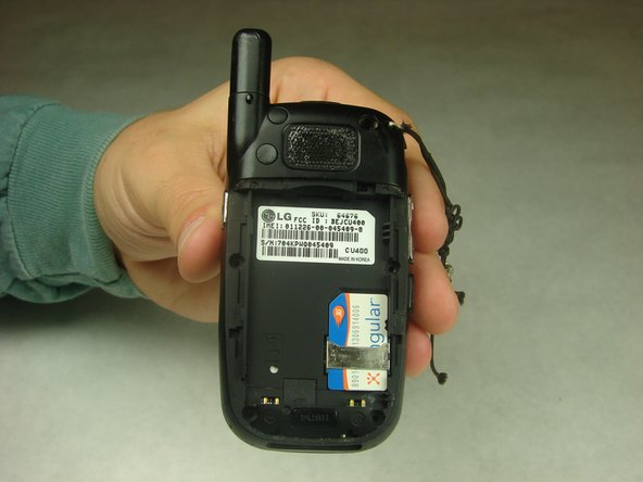 When installing the new battery, have the metal contacts of the phone match up with the metal contacts of the battery.