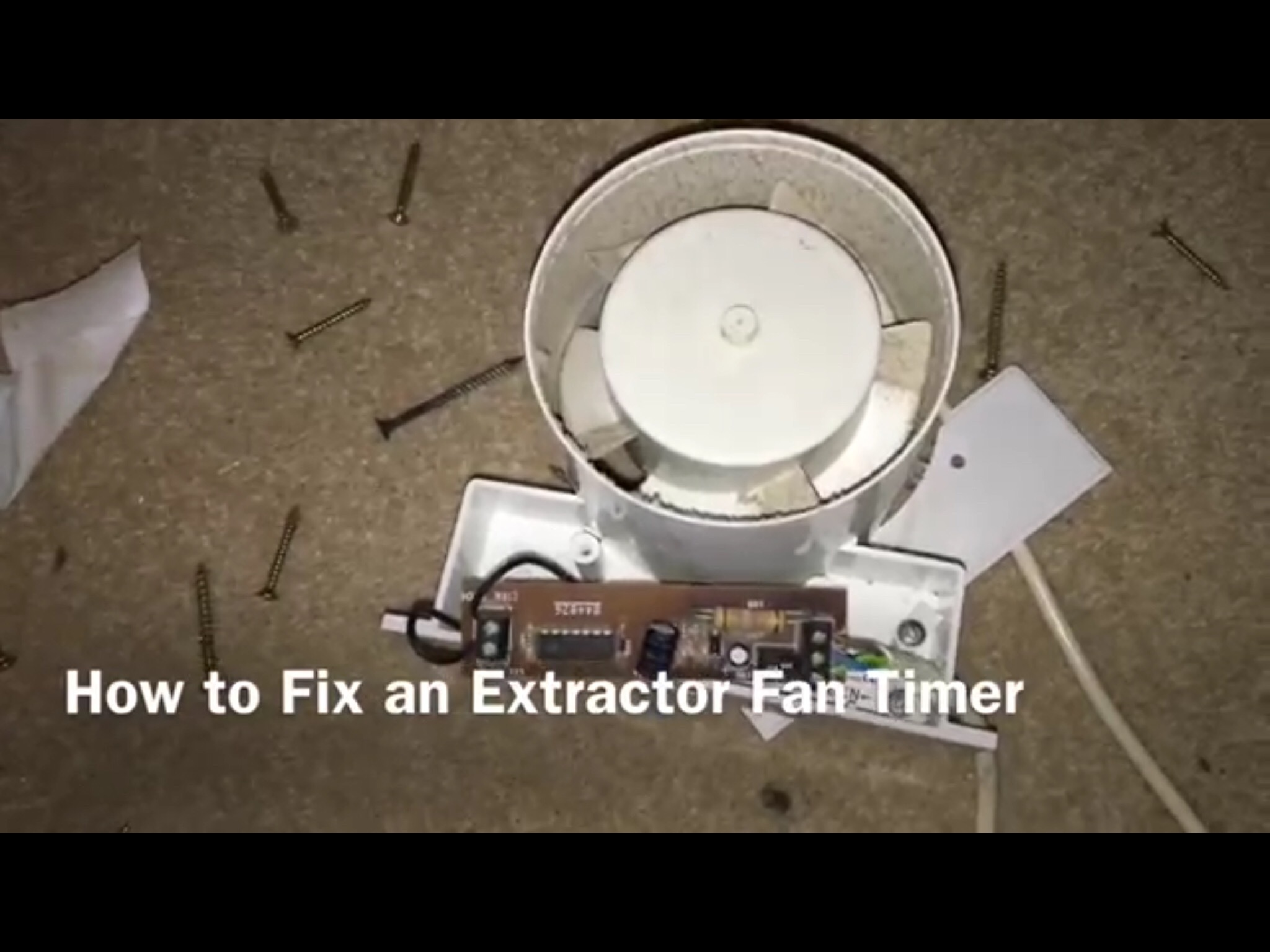 Fan Repair Ifixit 2000 Tahoe Switch Wiring Diagram Electrolytic Capacitors In The Timer Circuit Of A Bathroom Extractor