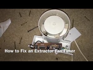 Electrolytic capacitors in the timer circuit of a bathroom extractor