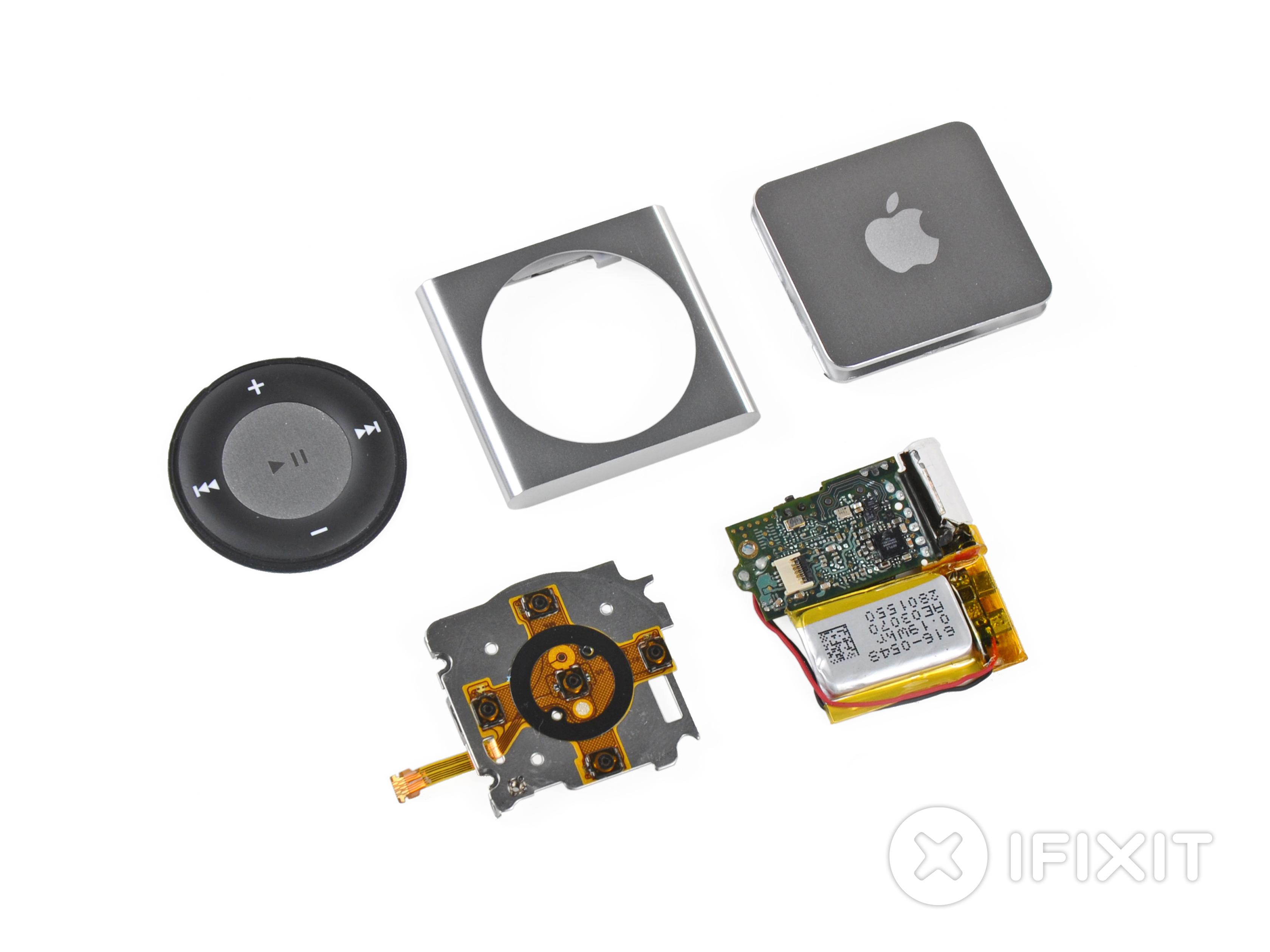 Ipod Shuffle 4th Generation Teardown Ifixit Baterai Touch 5