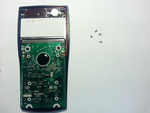 Remove the four 4 mm screws from the circuit board.