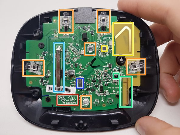 Image 1/3: There are 6 IR leds spread over the PCB