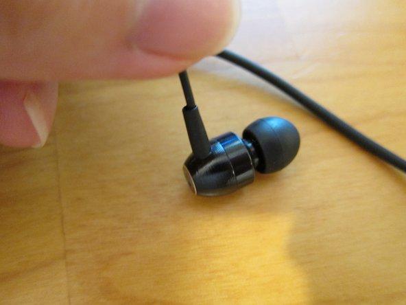 Repairing Brainwavz M5 Headset Grommet between the headphone wire and earbud