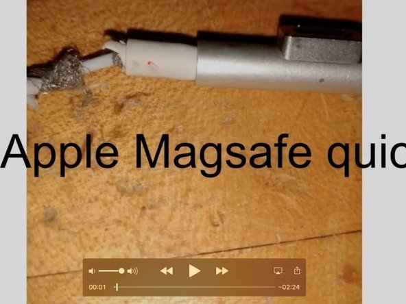 repair a frayed magsafe end