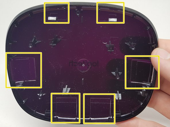 Image 2/3: As you can see the top case is made a little thinner on the places where an IR led is present