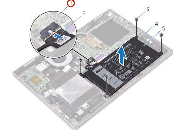 Press and hold the power button for five seconds to ground the system board.