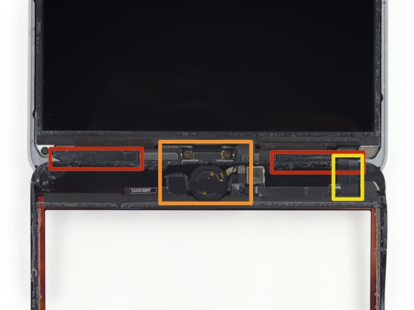 There are quite a few things to avoid beneath the lower bezel, so study the third image closely: