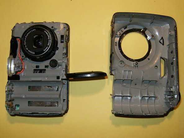 The camera's front half will come off first.