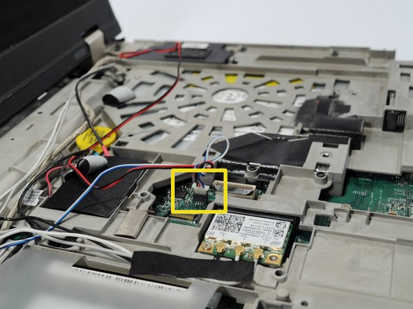 Now, we must remove the speaker wire connector from the motherboard.