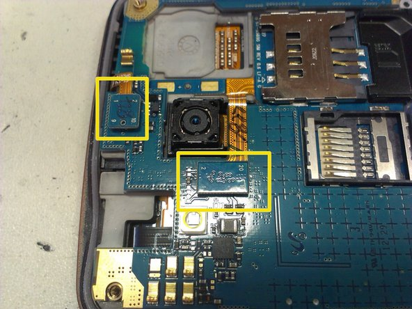 Image 2/3: be careful, below is the LCD flex cable!