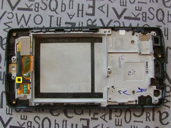 Image 1/2: The flex is strongly stuck on the frame, to remove it warm with a [product|IF145-031-1].