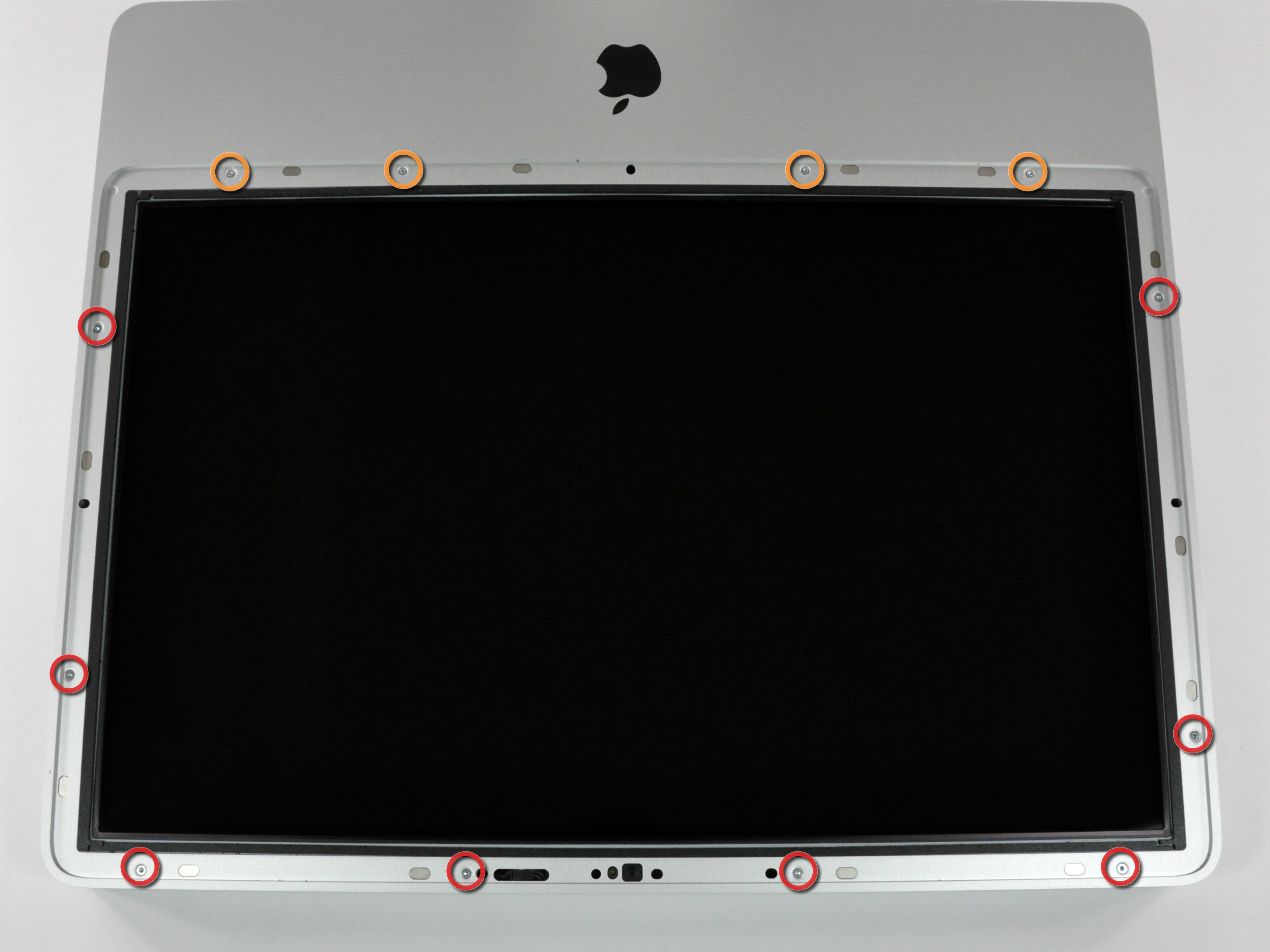 Imac Intel 20 Emc 2133 And 2210 Repair Ifixit Power Mac G5 Front Panel Wiring Likewise Connecting Usb To Bezel