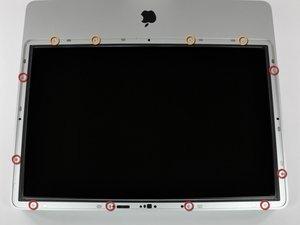 """Installazione della mascherina anteriore nell'iMac Intel EMC 2133 ed EMC 2210 da 20"""""""