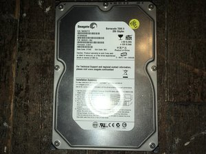 SOLVED: I have a 250GB Seagate hard drive that's not being